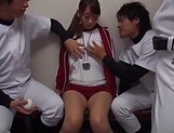 Seductive Miina Arimura enjoys when she is pussy poked picture 1