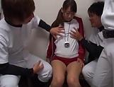 Seductive Miina Arimura enjoys when she is pussy poked picture 2