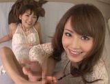 Steaming chicks Akiha Yoshizawa and Saki Kouzai get screwed picture 15