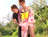 Horny Japanese girl gets nailed in outdoor park picture 12