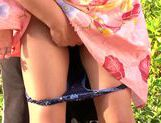 Horny Japanese girl gets nailed in outdoor park picture 14