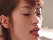 Hot MILF Hikaru Houzuki sucks toys and dicks passionately