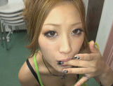 Blonde Japanese Aika enjoys a large cockfucking asian, asian sex pussy}