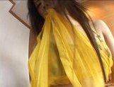 Chihiro Kawaoka Asian chick shows off her sexy ass