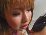 Elegant Asian hottie, Megu Hagiwara, with big tits enjoys hand work and dildo in pussy picture 9