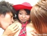 Ami Yamazaki Cowgirl Threesome Creampie