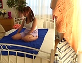 Amateur Japanese AV Model enjoys massage and anal penetration picture 14