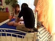 Amateur Japanese AV Model enjoys massage and anal penetration