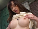 Hot flexible Japanese stunner gets anal and pussy penetration picture 15