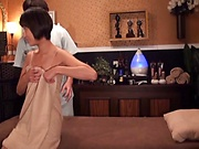 Delicious Japanese AV Model gets massage and ass insertion