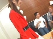 Anna Watase Costume Threesome Creampie Japanese babe In Elf Suit Has A Three Way Cum Party