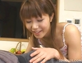Arika Takarano Cute Av Idol Japanese Is Addicted To Cum And Eats It Every Chance She Gets picture 13