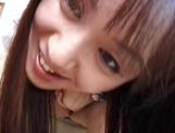 Attractive schoolgirl, Ayumi Fujimori finger fucks herself hard
