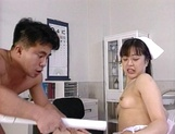 Sexy nurse Hitomi Kouya in stockings gets hardcore banging from doctor