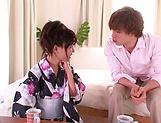 Aoi Tsukasa enjoys a spicy hardcore session