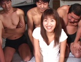 Hikaru Nishino creamed on face after gangbang sex