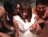 Hikaru Nishino creamed on face after gangbang sex picture 9