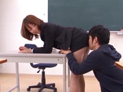 Teacher Chika Sena gets fucked in hardcore by horny students