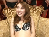 Hottie Anje Hoshi gets cum on face after serious gangbang session