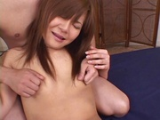 Asian hottie with bubble ass Tomomi Takahara gets a massive facial load