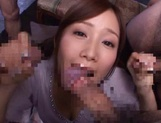 Crazy Japanese amateur chick Minami Kojima gets bukkake
