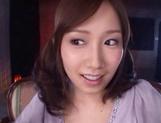 Crazy Japanese amateur chick Minami Kojima gets bukkake