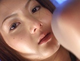 Steamy Japanese hottie Hikari Sawami gets teased enjoys cum in mouth picture 10