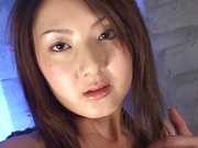 Steamy Japanese hottie Hikari Sawami gets teased enjoys cum in mouth