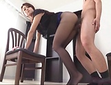 Sexy mature pleasing cock with sensual blowjob