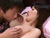 Horny Iioka Kanako gets her hairy muff eaten and banged picture 8