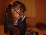 Sweet JP schoolgirl Airi Satou with glasses sucks a fat dick picture 15