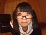 Sweet JP schoolgirl Airi Satou with glasses sucks a fat dick