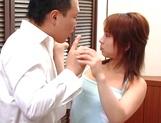 Appetizing Asian vixen Karen Ichinose sucking dick