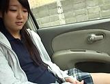 Houtsuki Haruna giving head in a car