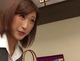Naughty Japanese milf, Ichika Kanhata is aroused by her horny student picture 4