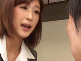 Naughty Japanese milf, Ichika Kanhata is aroused by her horny student picture 5