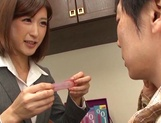 Naughty Japanese milf, Ichika Kanhata is aroused by her horny student picture 6