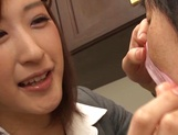 Naughty Japanese milf, Ichika Kanhata is aroused by her horny student picture 7