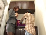 Naughty Japanese milf, Ichika Kanhata is aroused by her horny student picture 8