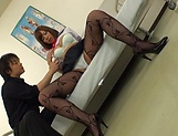 Hot Asian babe in school uniform gives a hot blowjob