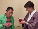 Kyouka Miyabe in kinky lingerie pleasing dick