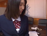 Two teen schoolgirls star in luscious blowjob picture 7