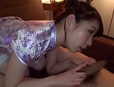 Kayama Mio makes her dude get a cumshot