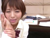 Mohimo moans as she is nailed harder