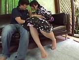 Amateur blowjob porn scenes with a hot Japanese AV model picture 4