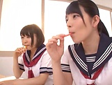 Ai Uehara and Karen Haruki sharing a big schlong picture 12
