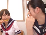 Ai Uehara and Karen Haruki sharing a big schlong picture 13