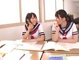 Ai Uehara and Karen Haruki sharing a big schlong picture 9