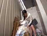 Alluring Asian babe seduced and gives blowjob