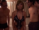 Yuuki Seri toyed and jizzed in a group action